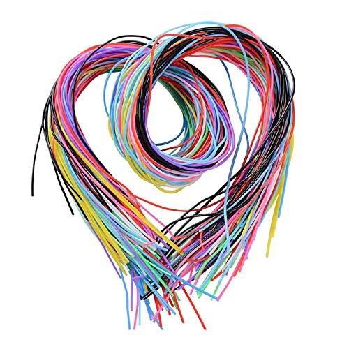 Mirrwin Scoubidou Cintas de Plástico Trenzado Cinta de Plástico Cinta de Anudado Hilos Mouline Adecuado para los Amantes del Bricolaje para Hacer Pulseras de Collar en Juguetes Escolares 120 Piezas