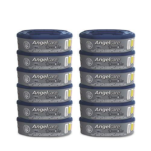 Angelcare Dress Up Nachfüllpack für Windeleimer, achteckig, geruchshemmend und hohe Kapazität, Menge wählbar