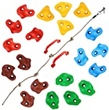 TOPNEW 20 Rock Climbing Holds with Knotted Rope and 2 Handles climbing ropes May, 2021