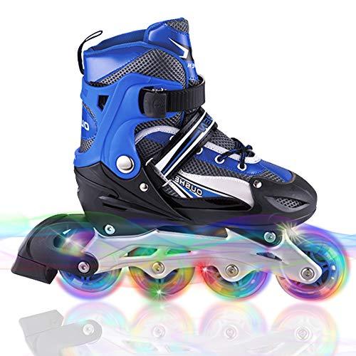 WATERFLY Inliner für Kinder, Verstellbar Inline Skates Rollschuhe Mit Leucht PU Räder Fun Flashing Inliner für Jungen und Mädchen Jugendliche Anfänger
