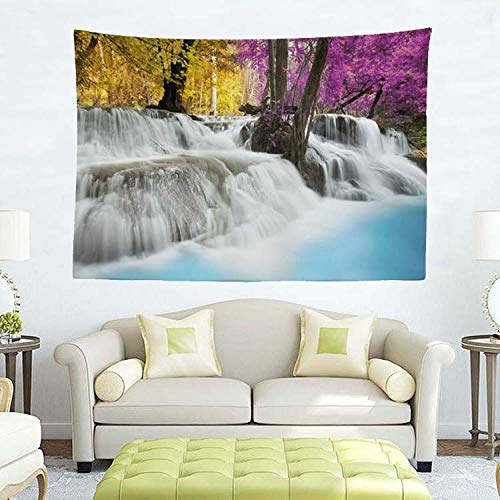 GenericBrands Natural Landscape Tapestry Colorful Waterfall Wall Hanging Background Cloth Home Decorations For Bedroom Living Room Dorm