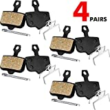 4 Pares de Pastillas de Freno de Disco de Bicicleta Compatibles con Avid Elixir 1 3 5 7 9 R CR Mag Sram XO XX X7 X9 XXWC DB1 DB3 DB5 (Resina)
