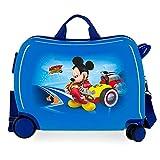 Disney Lets Roll Mickey Maleta Infantil Azul 50x49x20 cms Rígida ABS Cierre de...