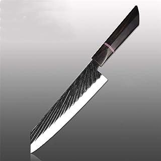 Couteau de chef 440C main Forged japonais de Sharp Fendoir Kiritsuke Santoku Utility Couteau de cuisine Outils (Color : 8 ...