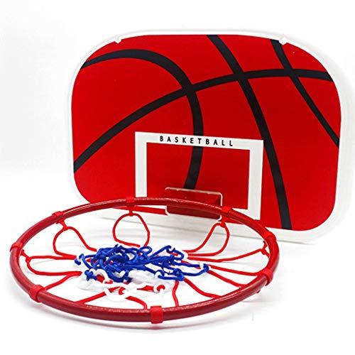 ZDNB Soporte de Baloncesto portátil para Exteriores, Red de Baloncesto Plegable montada en la Pared para Entrenamiento de Baloncesto en Interiores y Exteriores, Rojo, 38 cm × 29 cm