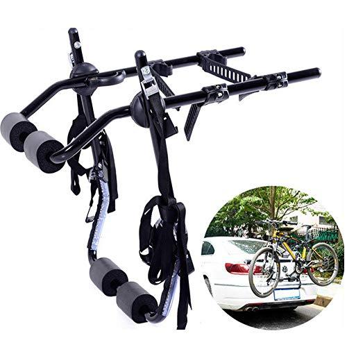 LJ-BICYCLE RACK Portabicicletas de Coche Trasero Colgando Bastidor de Montaje Portaequipajes Portabicicletas de Coche Colgante Trasero Can Hang 1-2 bicycles-60 * 69CM