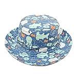 Alleza Cappello Sole per Bambini Stampato Coppia Fascia Capellino Pesca Protezione Solare con SottoGola Estate Primavera