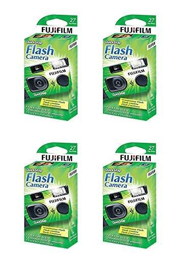 4x Fuji Quicksnap Flash 400 Disposable 35mm Camera 27 Exp 09/2020 FRESH