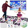 JOW Dance Mats for Kids Adults, Double User Wireless Non-Slip Musical Dancer Step Pads?Multi-Function Fitness Games Levels, Plug and Play,PC TV Sense Games Toys for Boys Girls Men and Women from JOW