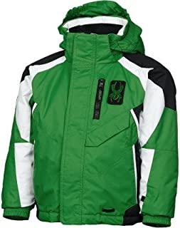 Spyder Mini Leader Green Black White Hooded Insulated Jacket Coat 2 2T