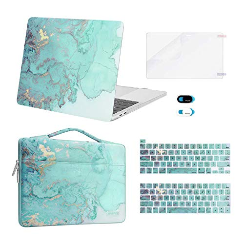 MOSISO Compatible with MacBook Pro 13 inch Case 2016-2020 A2338 M1 A2289 A2251 A2159 A1989 A1706 A1708, Plastic Watercolor Marble Hard...