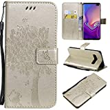 Xperia Z5 Premium Wallet Cases Embossed Cat Tree PU Leater Flip Phone Case Cover for Sony Xperia Z5 Premium - Gold
