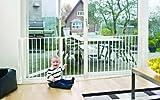 Baby Dan Konfigurationsgitter / Kaminschutzgitter Flex L, 90 - 223 cm - Hergestellt in Dänemark und vom TÜV GS geprüft, Farbe: Weiß - 4