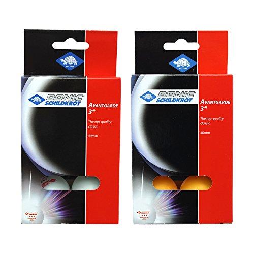 Donic Avantgrade Plastic 3 Star Table Tennis Ball (White) - Pack of 6