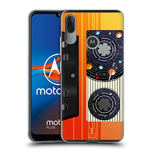 Head Case Designs Videocassetta Musica Spazio Cover in Morbido Gel Compatibile con Motorola Moto E6 Plus