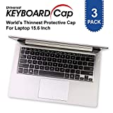 Fully Covered Flat Style Easily Sanitized Universal 0.025mm Wipeable Superb Tactile Feeling Waterproof Anti-Dust Keyboard Cap Cover for Laptop 15.6 Inch Hospital/Dentist Use [3 Pack]