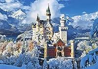 木のおもちゃ1000ピース、城の雪景色、子供向けのDIYおもちゃPUZZLE (50×75 CM)