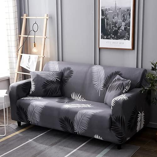 DANNEIL Fundas Sofa elasticas, Tela de Microfibra elástica, Todo Incluido, Funda de sillón, Fundas para Sofa Chaise Longue para decoración del hogar de la Sala (Color 4,1-Seat 90-130cm)