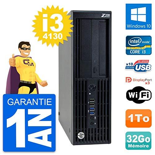 HP PC Workstation Z230 SFF Intel i3-4130 RAM 32 GB Festplatte 1 TB Windows 10 WiFi (überholt)