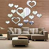 Simmia Home Murales,Pegatinas de Pared,Etiquetas Engomadas Espejo de acrílico Respetuoso del Medio Ambiente en Forma de...