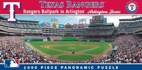 MasterPieces MLB Texas Rangers Stadium Panoramic Jigsaw Puzzle, Ballpark in Arlington, 1000 Pieces