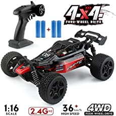 1:16 Remote Control Off Road Truck Hobby Grade, 2.4G 4WD Remote Control Off Road Truck, 36km/h High-Speed RC Cars G171, RC Electronic Monster Hobby Truck Buggy for Kids Adults