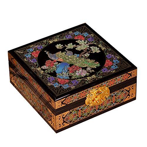 Laogg Caja Joyero Chino,Joyas Caja Madera Almacenamiento de