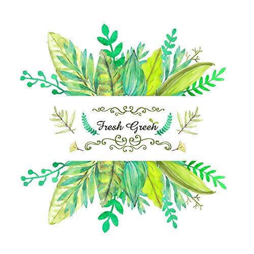 HAODEE Vinilos Pared Hermosas Plantas Verdes Pegatinas De Pared para Dormitorios Pegatinas De Pared FáCiles De Limpiar Sala De Estar