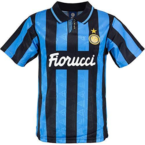 Score Draw Internazionale Milano Inter Mailand 1992 Retro Trikot (L, Blue/Black)