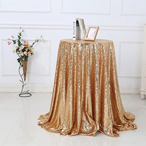 VORCOOL Nappe de table de mariage étincelante paillettes nappe de paillettes pour la décoration de l'événement de banquet de fête 1,2 x 1,8 M (Golden)