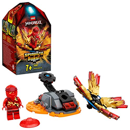 Ninjago Action Toy Spinjitzu Explosivo: Kai Set Spinner Ninja, color rojo (Lego ES 70686)