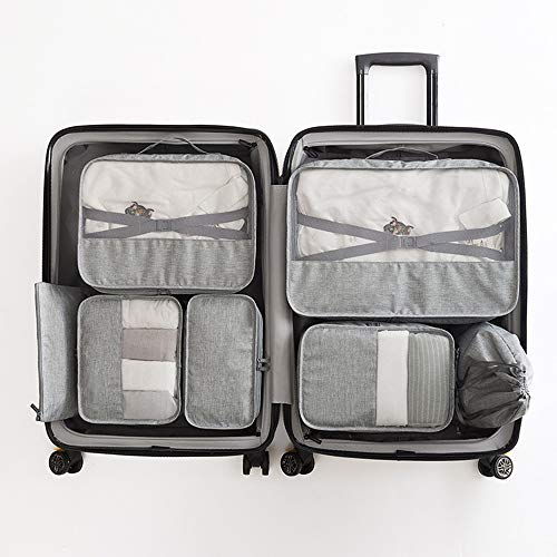 ADDG Packing Cubes 7 Piece Packing Travel Organizer Cubes Set Travel Luggage Packing Organizers Set,Green