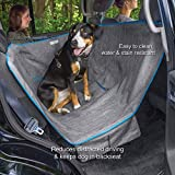 Kurgo Dog Car Seat Cover | Pet Bench Seat Covers | Half Hammock Style Car Cover | Water Resistant | Scratch Proof | Baby Child Car Seat Divider | 27.5 Inches | Half Hammock (Heather Black)