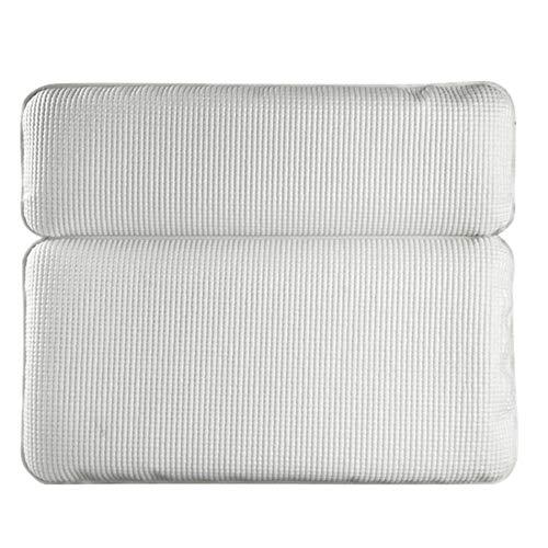 Badkuip kussen Premium Bath kussen anti-slip badmat met extra dikke en zachte schuimstof bekleding wit voor badkuip, whirlpool