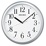 セイコー クロック 掛け時計 電波 アナログ 銀色 メタリック KX218S SEIKO