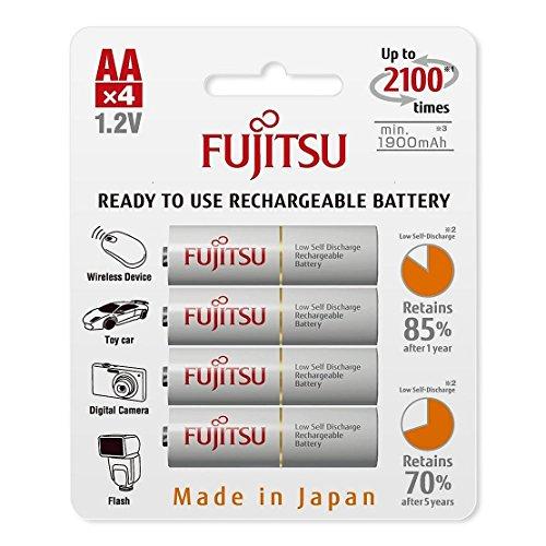 Fujitsu HR-3UTCEX(4B) Batterie ricaricabili AA NiMh, 1900 mAh, confezione da 4 pezzi