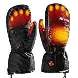 WILDYAK Heated Gloves for Men Women, Electric Heating Gloves for Motorcycle,Ski,Hunting,Snowmobile (Dark, M)