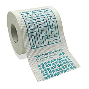 Aryellys Games Funny Novelty Toilet Paper - White Elephant Gift Idea, 3 Ply Bathroom Tissue with 200 Sheets