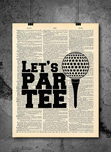 Golf - Party Joke Quote Art - Authentic Upcycled Dictionary Art Print - Home or Office Decor (D22)