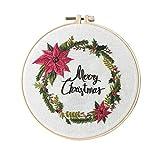 Kreuzstich-Set Embroidery Starter Kit,Handarbeit Stickerei Starter Kit Cross Stitch Craft Für Erwachsene Anfänger Sticken,DIY-Stickerei (Christmas)