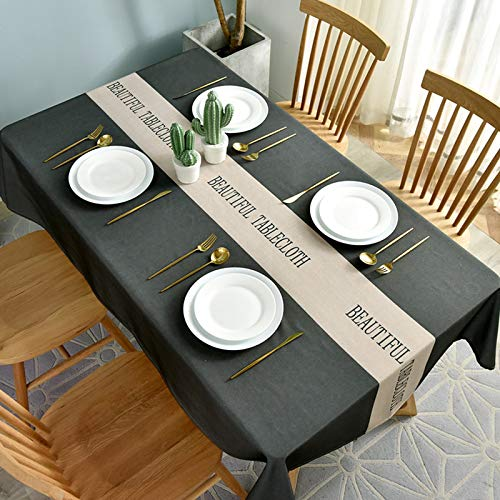 Oukeep National Wind Water-Proof, Oil-Proof And Scald-Proof Tablecloth, Wash-Free Tablecloth, Nordic Rectangular Coffee Table Tablecloth