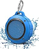 Outdoor Waterproof Bluetooth Speaker,Kunodi Wireless Portable Mini Shower Travel Speaker with Subwoofer, Enhanced