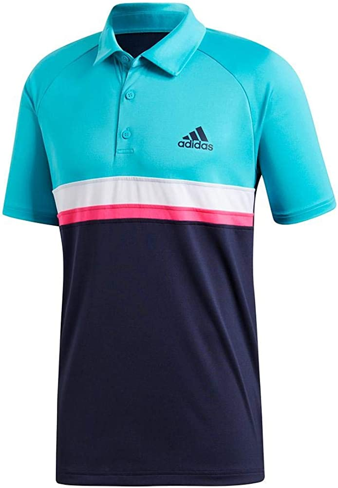 adidas Men's Tennis Club Time It is very popular sale Polo Block Color