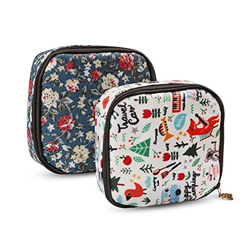 Mini Tasche für Tampons und Binden Damenbinden Tasche Mädchen Period Bag Frauen Menstruationstasche Geldbeutel Täschchen für Tampon Münze Kosmetisch Aufbewahrungstasche(2 Stücke)