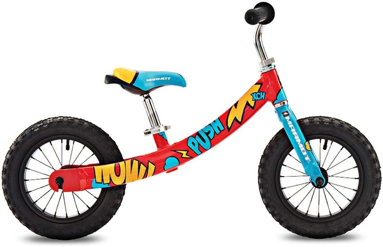 muy popular Bicicletas sin pedales Bicicletas de Equilibrio, Bicicleta de de de Montaña para Niños de Equilibrio Coche de Equilibrio de 12 Pulgadas Andador Scooter de 2-6 años de Edad (Color   D)  hasta un 50% de descuento