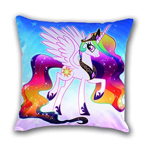 CoolChange Funda de cojín de Unicornio 50x50cm, Tema: Unicornio Arco en Cielo