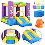 Festnight Castillo Hinchable con Tobogán Happy Hop 260x210x160 cm PVC Multicolor