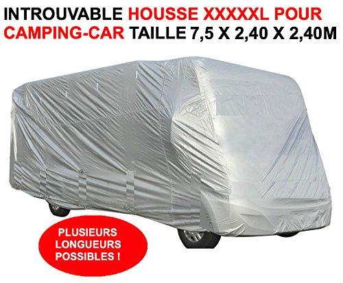 Unbekannt LCM2014 Große Schutzhülle speziell für Camping, XXXXXL, 7,50 x 2,40 x 2,40 cm, speziell für den Winter. Lassen Sie Ihr Camping-Car Nicht ohne Diese Hülle schlafen! Raid Preparation 4X4
