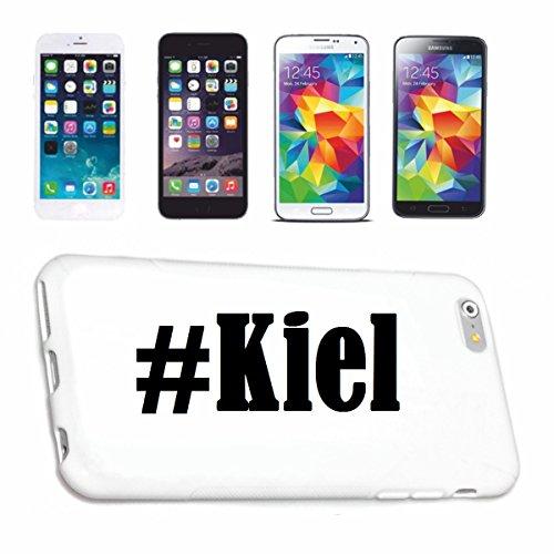 Reifen-Markt Handyhülle kompatibel für iPhone 5C Hashtag #Kiel im Social Network Design Hardcase Schutzhülle Handy Cover Smart Cover