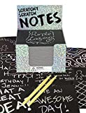 Purple Ladybug Holographic Scratch Off Art Mini Notes Set: 150 Scratch Papers + 2 Wooden Stylus - Great Gift Idea for Kids & Teens, for Fun Arts & Crafts Activities, or for Travel, Office, & School